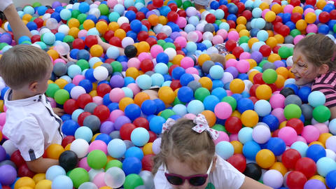 children and balls Footage