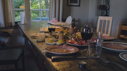 Table With Food and Drink Archivo