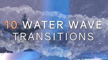 Realistic Water Wave Transitions Pack Plantilla de After Effects