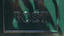 Green Metal Post Sign ビデオ