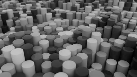 4K Abstract Cylinders Live Action