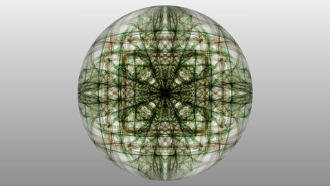 Green magic light fractal patterns on white background. Live mandala for Animation