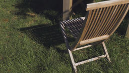 High Angle Shot of a Lawn Chair Live Action