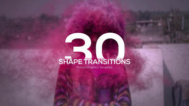 4K Shape Transitions Motion Graphics Template