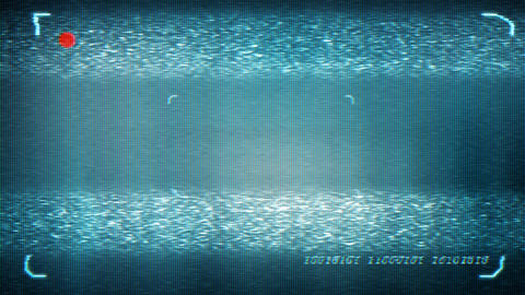 Animated distorted monitor screen in sci fi style. Loop-able. 3d rendering Animation