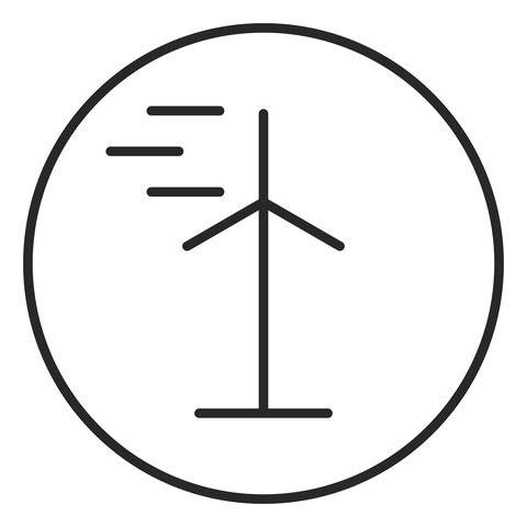 Wind turbine stroke icon, logo illustration. Stroke high quality symbol フォト