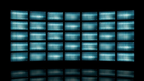 Animated video wall with distorted screens 4K Animation