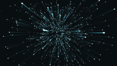 Animation exploding particles blue and black loop able. 3D rendering 4K Animation