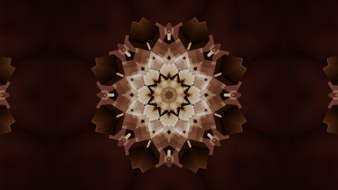 Animated stylish abstract mandala flower particles loop able. 3D rendering 4K Animation