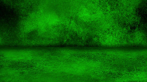 Green Grunge Wall and Floor Loopable Intro Background Animation