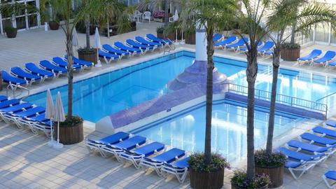 Empty Swimming Pool In Hotel GIF
