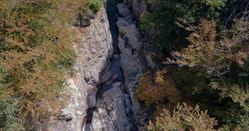 River at the Gorges du Tarn Overhead Aerial Live Action