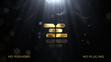 Golden Logo After Effects Template