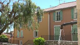France Cote d'Azur Villefranche sur Mer public water tap and colorful houses GIF