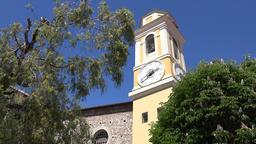 France Cote d'Azur Villefranche sur Mer church tower Saint Michel Grosseto ビデオ