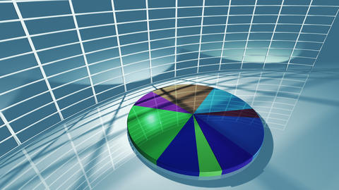 Animated business pie chart for economic concept 4K Animation