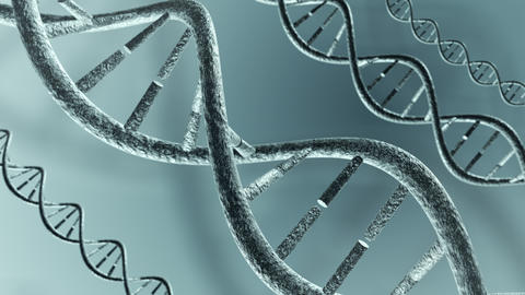 Animated DNA strands. Loop-able 4K Animation