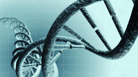 Animation of genetic DNA. Loop-able 4K Animation