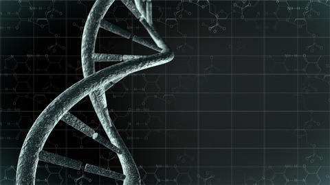 Animation of genetic DNA with science background. Loop-able 4K Animation