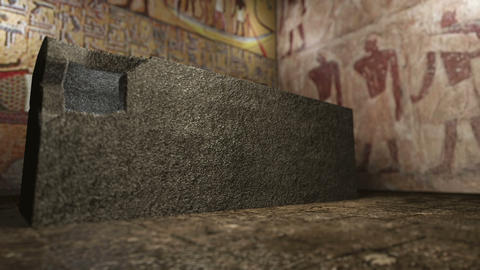 Animated pharaoh tomb in ancient Egypt 4K Animation