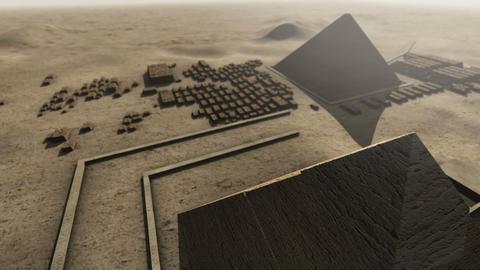 Giza platform Egypt. An animation from above 4K Animation