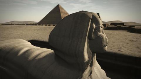 Animated Sphinx at the Giza platform, Egypt 4K Animation