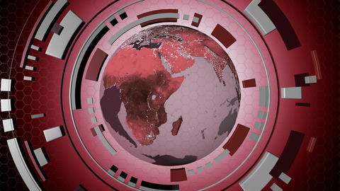 Animated media interactive hud with a loop-able globe 4K Animation