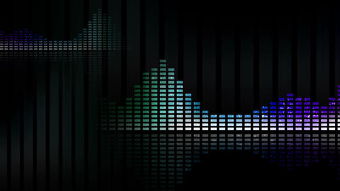 Animated waveforms and music VU meters. Seamless loop-able 4K Animation
