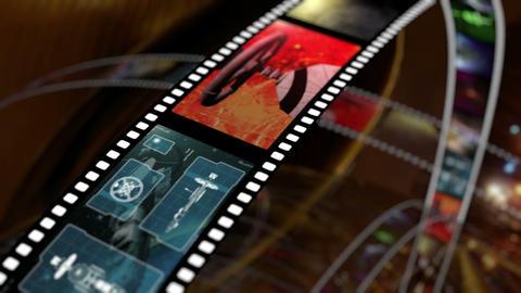 Animated rotating film reels 4K Animation