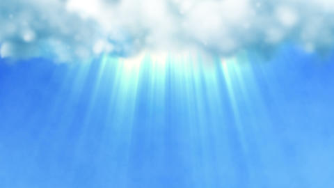 Blue sky with a divine light shining from the clouds Animation
