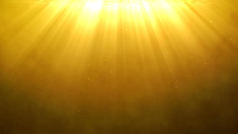 Golden background with holy light rays shining from above Animation