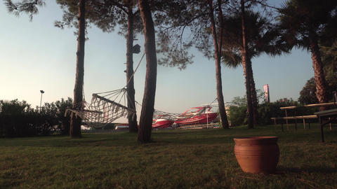 hammock in a park Hotel Park in Turkey Live Action