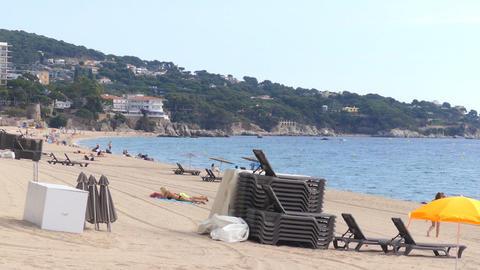 Little Private Beach Near A Small Cliff GIF