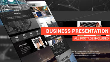 Business Landing Presentation After Effects Template