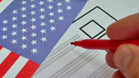 Voting paper ballot in United States of America Footage