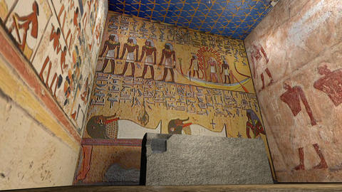 A 3D animation of a tomb in ancient Egypt Animation