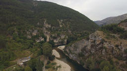 Landscape Scenery From the Gorges du Tarn Footage