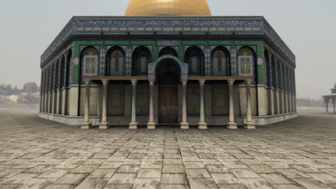 Animation of Dome of the Rock in Jerusalem Animation