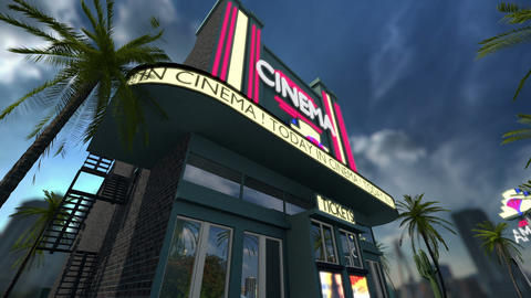 Animation of a cinema movie theater Animation