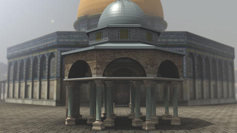 Animation of Dome of the Rock exterior in Jerusalem Stock Video Footage
