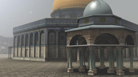 Animation of Dome of the Rock exterior in Jerusalem Animation