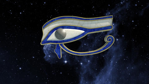 Eye of horus rotating in the universe Animation