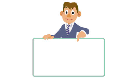 Businessman-Board check Animation