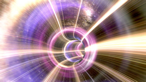 Animated wormhole through space Animation