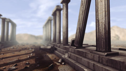 Greek pillars with depth-of-field Animation