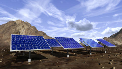 Animation of solar panels Animation