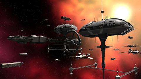 Armada space fleet Animation