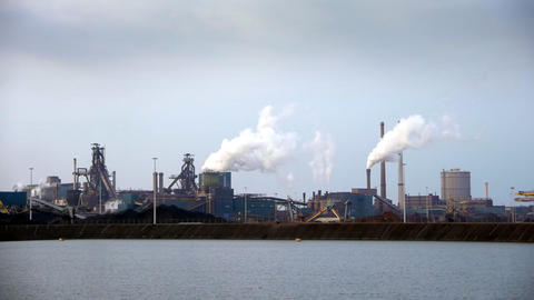 Industrial panorama in the Netherlands Live Action