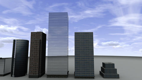 Buildings forming a bar chart Animation