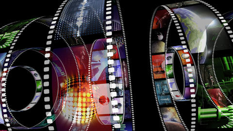 Animation of rotating film reels Animation